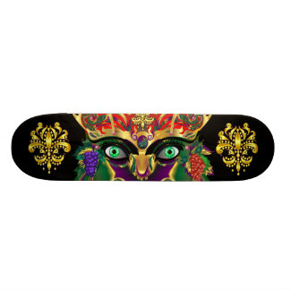 Mardi Gras Mythology Bacchus View Hints Please 21.6 Cm Skateboard Deck