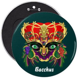 Mardi Gras Mythology Bacchus View Hints Please 6 Cm Round Badge
