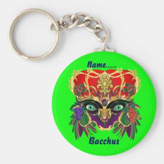 Mardi Gras Mythology Bacchus View Hints Please Basic Round Button Key Ring