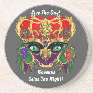 Mardi Gras Mythology Bacchus View Hints Please Beverage Coaster