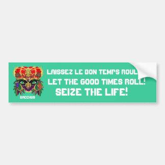 Mardi Gras Mythology Bacchus View Hints Please Car Bumper Sticker