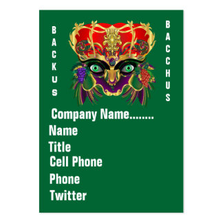 Mardi Gras Mythology Bacchus View Hints Please Pack Of Chubby Business Cards