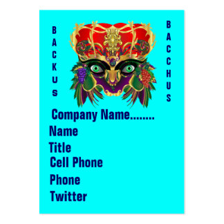 Mardi Gras Mythology Bacchus View Hints Please Business Card Template
