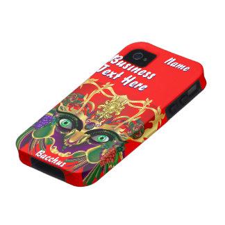 Mardi Gras Mythology Bacchus View Hints Please Case-Mate iPhone 4 Cases