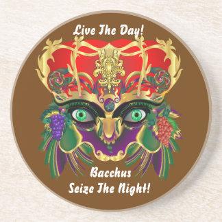 Mardi Gras Mythology Bacchus View Hints Please Coaster