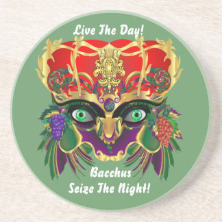 Mardi Gras Mythology Bacchus View Hints Please Drink Coasters