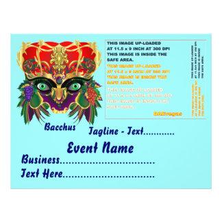 Mardi Gras Mythology Bacchus View Hints Please Personalized Flyer