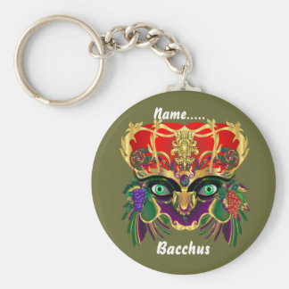 Mardi Gras Mythology Bacchus View Hints Please Key Chain