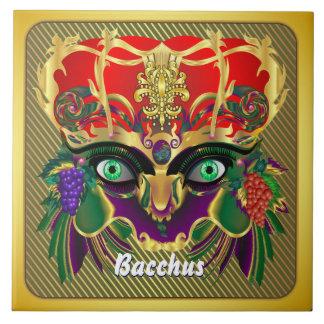Mardi Gras Mythology Bacchus View Hints Please Large Square Tile