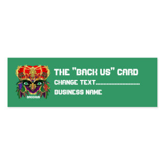 Mardi Gras Mythology Bacchus View Hints Please Pack Of Skinny Business Cards