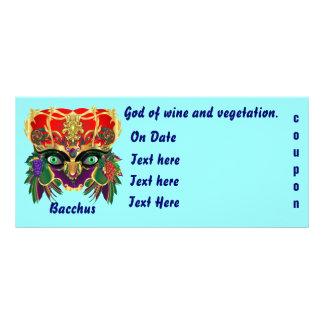Mardi Gras Mythology Bacchus View Hints Please Personalised Rack Card