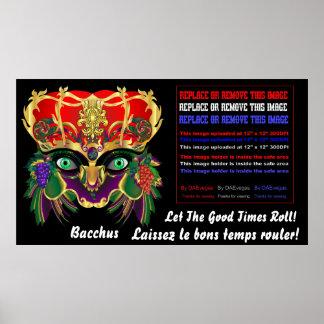 Mardi Gras Mythology Bacchus View Hints Please Poster