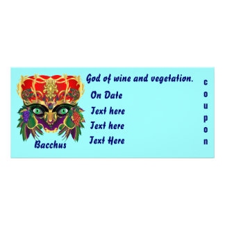 Mardi Gras Mythology Bacchus View Hints Please Personalised Rack Card
