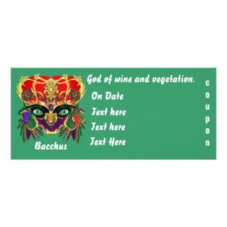 Mardi Gras Mythology Bacchus View Hints Please Custom Rack Card
