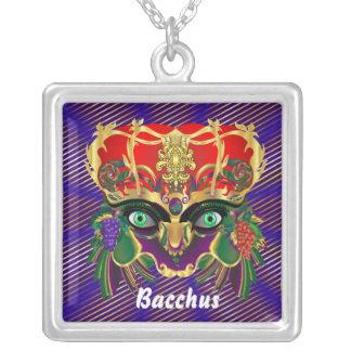 Mardi Gras Mythology Bacchus View Hints Please Square Pendant Necklace