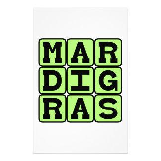 Mardi Gras, New Orleans Celebration Stationery Design