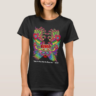 Mardi Gras New Orleans dark Light text T-Shirt