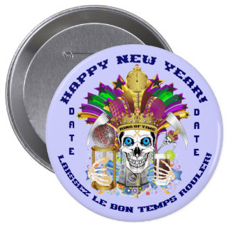 Mardi Gras New Year Customize View Notes Please 10 Cm Round Badge