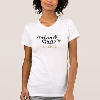 Mardi Gras NOLA Black on Womens Vtg Tshirt