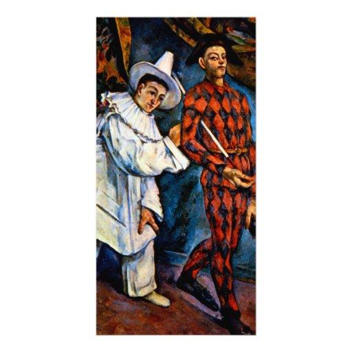 Mardi Gras painting by Paul Cezanne classic art Custom Photo Card