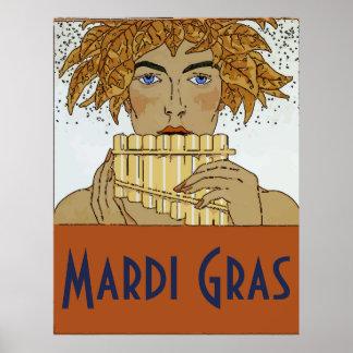 Mardi Gras Pan Poster