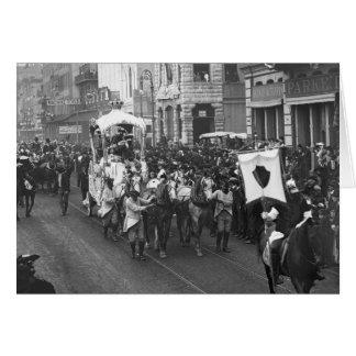 Mardi Gras Parade, 1906 Card