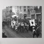 Mardi Gras Parade, 1906. Vintage Photo Poster