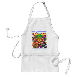 Mardi Gras Party Clown View Hints Please Standard Apron