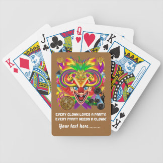 Mardi Gras Party Clown View Hints Please Deck Of Cards