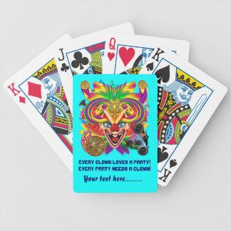 Mardi Gras Party Clown View Hints Please Poker Deck
