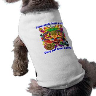 Mardi Gras Party Clown View Hints Please Sleeveless Dog Shirt
