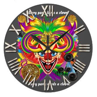 Mardi Gras Party Clown View Hints Please Wall Clock