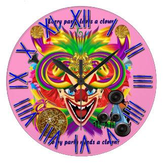 Mardi Gras Party Clown View Hints Please Wall Clocks