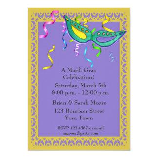 Mardi Gras Party Invitation