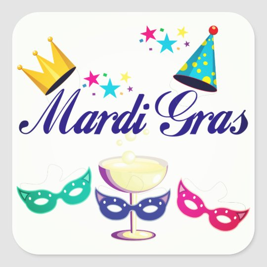 Mardi Gras Party Stickers