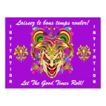 Mardi Gras Party Theme  Important See Notes 17 Cm X 22 Cm Invitation Card