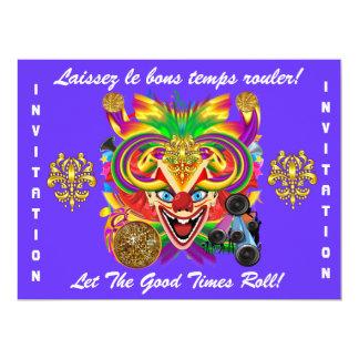 Mardi Gras Party Theme  Please View Notes 17 Cm X 22 Cm Invitation Card