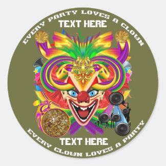 Mardi Gras Party Theme  Please View Notes Round Sticker