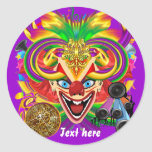Mardi Gras Party Theme  Please View Notes Round Stickers