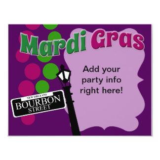 Mardi Gras Party Time Custom Invitation