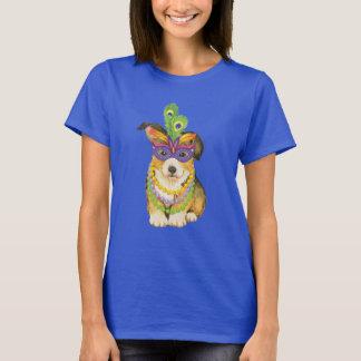 Mardi Gras Pembroke Welsh Corgi T-Shirt