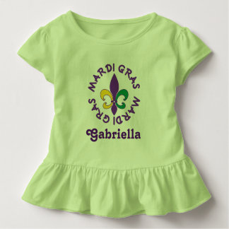 Mardi Gras Personalized Kids Toddler T-shirt Tee