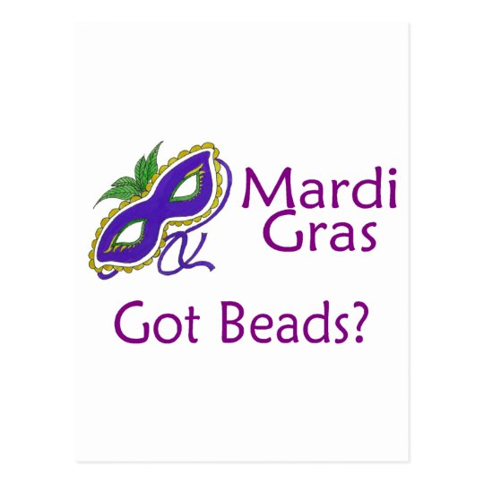 Mardi Gras Purple Postcard