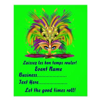 "Mardi Gras Queen 4.5"" x 5.6"" View Notes Please 11.5 Cm X 14 Cm Flyer"