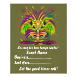 """Mardi Gras Queen 4.5"""" x 5.6"""" View Notes Please Personalised Flyer"""