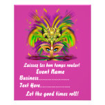 "Mardi Gras Queen 4.5"" x 5.6"" View Notes Please Flyer Design"