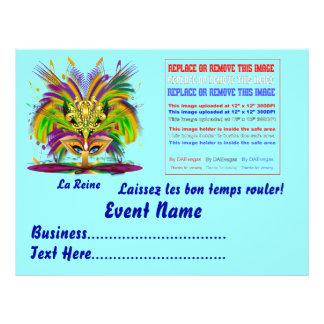 "Mardi Gras Queen 8.5"" x 11""  Please View Notes Custom Flyer"