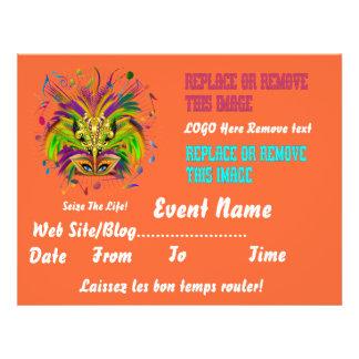 "Mardi Gras Queen 8.5"" x 11"" View Notes Please Custom Flyer"