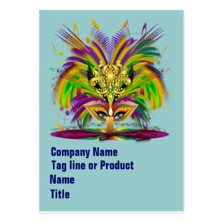 Mardi Gras Queen Please View Hints Business Card Template