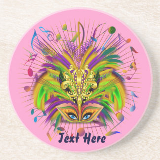 Mardi Gras Queen Style 3 View Notes Plse Beverage Coaster